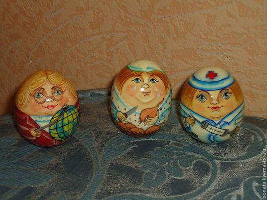 Персональные подарки ручной работы. Ярмарка Мастеров - ручная работа. Купить Яйца профессии авторская роспись. Handmade. Яйцо расписное