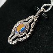 Украшения handmade. Livemaster - original item Silver pendant with quartz 7h5 mm. Handmade.