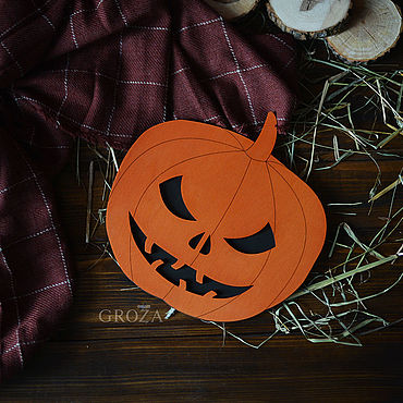 Для дома и интерьера ручной работы. Ярмарка Мастеров - ручная работа Подставки: Хэллоуинская тыква. Handmade.