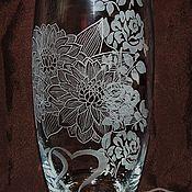 Для дома и интерьера handmade. Livemaster - original item Roses and Chrysanthemums. Flower vase. Handmade.