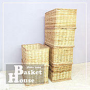 Для дома и интерьера handmade. Livemaster - original item Wicker box, Rectangular basket, Willow storage basket, Basket for toy.. Handmade.