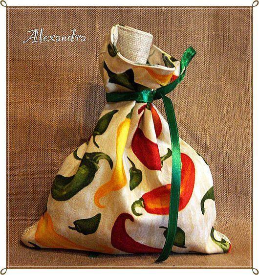 """Кухня ручной работы. Ярмарка Мастеров - ручная работа. Купить Мешочек для приправ """"Перчик"""". Handmade. Перец, кухня"""