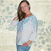 Одежда ручной работы. Ярмарка Мастеров - ручная работа Блузы НЕЗАБУДКА Рубашки женские Вышиванки Блузы женские Этно одежда. Handmade.