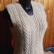 Vests handmade. Livemaster - original item Women`s knitted vest Colour of ecru. Handmade.