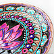 'Lotus Deluxe' decorative plate. Plates. Art by Tanya Shest. My Livemaster. Фото №5