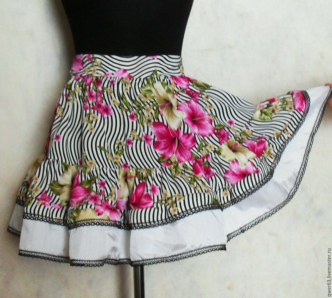Юбка с цветами с доставкой