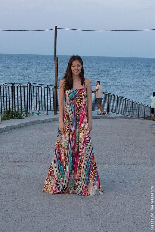 """Платья ручной работы. Ярмарка Мастеров - ручная работа. Купить Сарафан """"Сафари"""". Handmade. Платье, платье на лето, платье макси"""
