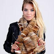 Аксессуары handmade. Livemaster - original item Fox fur scarf brown. Handmade.