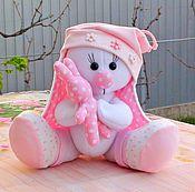 Мягкие игрушки ручной работы. Ярмарка Мастеров - ручная работа Зайка Малыш- девочка. Handmade.
