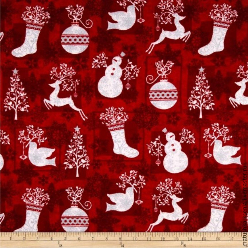 Новогодние ткани для тильды