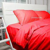 Для дома и интерьера handmade. Livemaster - original item Red bedding. Red duvet cover set. Red bed sheet set. Handmade.