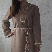Одежда ручной работы. Ярмарка Мастеров - ручная работа Льняное платье в пол. Handmade.