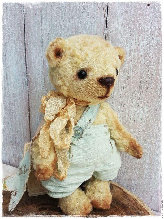 Мишки Тедди ручной работы. Ярмарка Мастеров - ручная работа. Купить Тедди медвежонок Луи. Handmade. Голубой, ручная работа