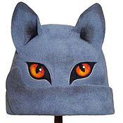 """Для дома и интерьера ручной работы. Ярмарка Мастеров - ручная работа Шапка для бани """"Британский голубой кот"""". Handmade."""