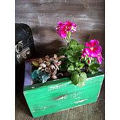 """Цветы и флористика ручной работы. Ярмарка Мастеров - ручная работа Коробка  с цветами """"Кольюр"""". Handmade."""