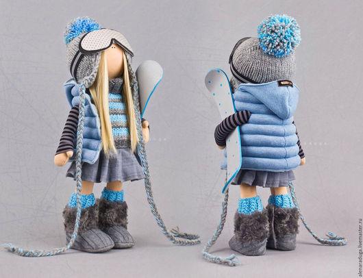 """Человечки ручной работы. Ярмарка Мастеров - ручная работа. Купить """"СНЕЖНЫЕ  РАДОСТИ"""". Handmade. Голубой, зима, Новый Год, тедди"""