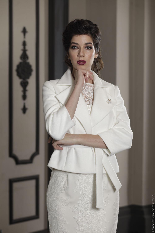 Свадебное Пальто Белое Женское Пальто «Елена», Накидки, Москва,  Фото №1