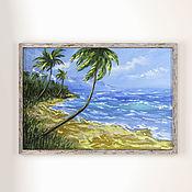 Картины и панно handmade. Livemaster - original item The picture of the sea