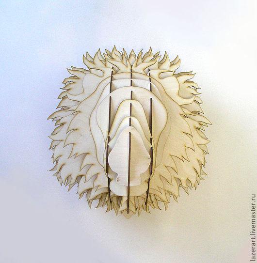 Статуэтки ручной работы. Ярмарка Мастеров - ручная работа. Купить Голова Льва. Handmade. Бежевый, предметы интерьера