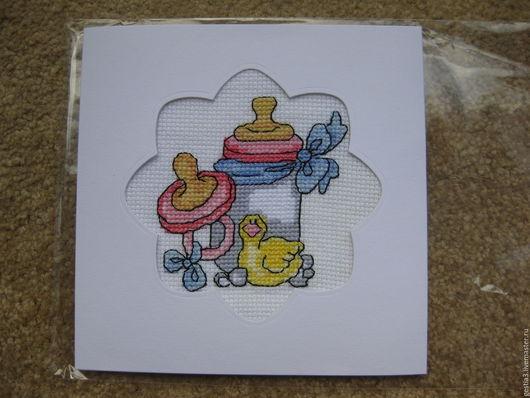 Детские открытки ручной работы. Ярмарка Мастеров - ручная работа. Купить Добро пожаловать. Handmade. Комбинированный, открытка на день рождения