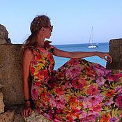 Одежда ручной работы. Ярмарка Мастеров - ручная работа Длинное шёлковое платье. Handmade.
