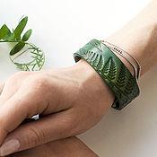 Украшения handmade. Livemaster - original item Green Leather Bracelet for Women Girls. Handmade.