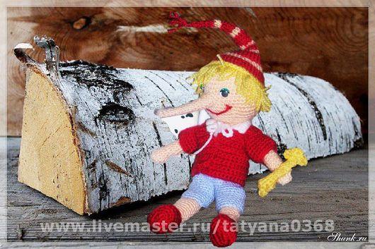 Кукольный театр ручной работы. Ярмарка Мастеров - ручная работа. Купить БУРАТИНО вязаный. Handmade.