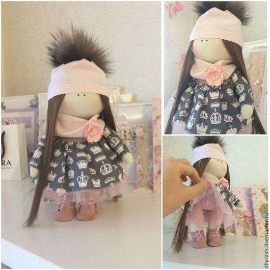 Коллекционные куклы ручной работы. Ярмарка Мастеров - ручная работа. Купить Интерьерная кукла. Handmade. Темно-серый, кукла в подарок