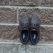 Туфли ручной работы. Ярмарка Мастеров - ручная работа Туфельки повседневные комбинированные с лапшой. Handmade.