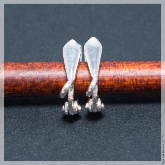 Для украшений ручной работы. Ярмарка Мастеров - ручная работа. Купить Швензы основы  галстук серебряные 925 пробы. Handmade.