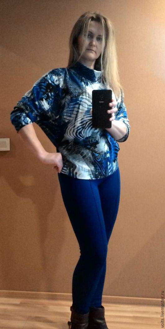 """Брюки, шорты ручной работы. Ярмарка Мастеров - ручная работа. Купить Узкие брюки """"Элен"""" цвет перванш. Handmade. Синий"""