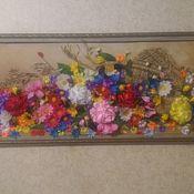 Картины ручной работы. Ярмарка Мастеров - ручная работа Картины: корзина с цветами. Handmade.