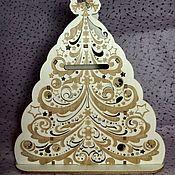 Копилки ручной работы. Ярмарка Мастеров - ручная работа Копилка Новогодняя елочка. Handmade.