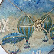 """Для дома и интерьера ручной работы. Ярмарка Мастеров - ручная работа Часы """"Достать до облаков"""". Handmade."""
