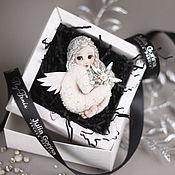 Украшения ручной работы. Ярмарка Мастеров - ручная работа текстильная брошь - Рождественский ангел. Handmade.