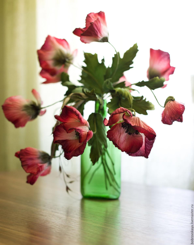 Маки Цветы из шелка, Цветы, Петергоф, Фото №1