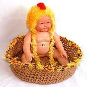 Работы для детей, ручной работы. Ярмарка Мастеров - ручная работа для фотосессий новорожденного (шапочка для новорожденных). Handmade.