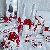 """Свадебный салон ручной работы. Ярмарка Мастеров - ручная работа Свадебный набор """"Кармин"""". Handmade."""