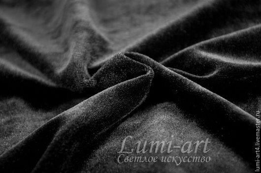Вышивка ручной работы. Ярмарка Мастеров - ручная работа. Купить Черный бархат 30 x 20 см отрезок. Handmade.