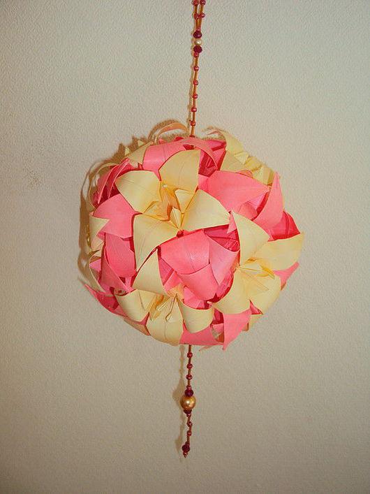 """Кусудамы ручной работы. Ярмарка Мастеров - ручная работа. Купить Кусудама """"Лилии"""". Handmade. Оригинальный подарок, подарок девушке"""