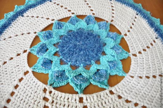 Текстиль, ковры ручной работы. Ярмарка Мастеров - ручная работа. Купить украшение для стола. Handmade. Голубой