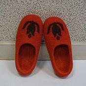 Обувь ручной работы. Ярмарка Мастеров - ручная работа Тапки Терракотовые. Handmade.