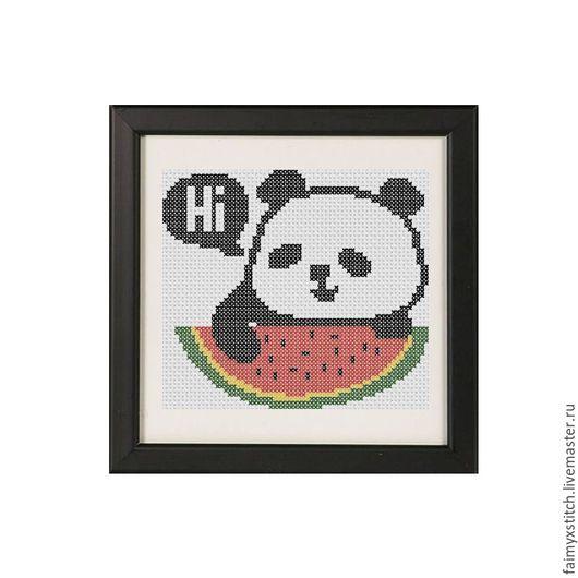 """Вышивка ручной работы. Ярмарка Мастеров - ручная работа. Купить Схема для вышивки крестом """"Панда"""". Handmade. Схема для вышивки"""