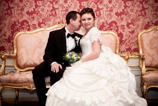 Платья ручной работы. Ярмарка Мастеров - ручная работа. Купить Историческое свадебное платье с турнюром. Handmade. Белый, для невесты