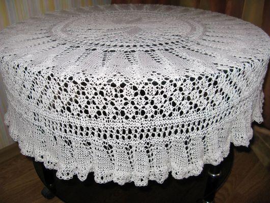 Текстиль, ковры ручной работы. Ярмарка Мастеров - ручная работа. Купить Скатерть. Handmade. Белый, скатерть на стол, скатерть кружевная