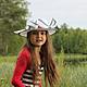 """Шляпы ручной работы. Заказать Детское летнее канотье """"Pres du lac"""" (У озера). Наталья Прокофьева (la-magie-spb). Ярмарка Мастеров."""