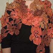 Шали ручной работы. Ярмарка Мастеров - ручная работа Шаль-Вальс осенних цветов. Handmade.