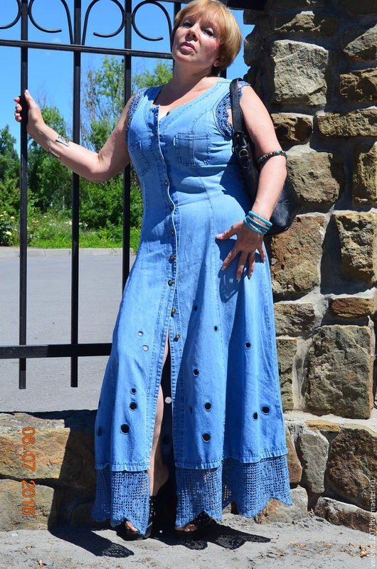 """Платья ручной работы. Ярмарка Мастеров - ручная работа. Купить Платье """"I love denim"""". Handmade. Голубой, платье вечернее"""