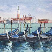 """Картины и панно ручной работы. Ярмарка Мастеров - ручная работа Акварель """"Венеция"""". Handmade."""