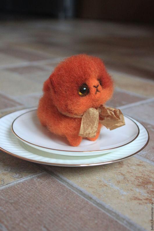 Игрушки животные, ручной работы. Ярмарка Мастеров - ручная работа. Купить Валяная игрушка персидский котенок Эля. Handmade. Рыжий